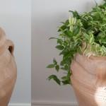Hållare för innerkrukor i urnans mynning