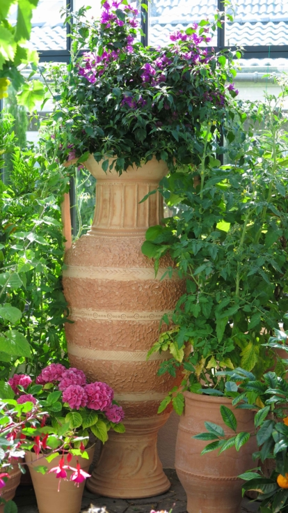 Amfora av terrakotta. Terrakottaamfora från Kreta. Högklassig amfora.
