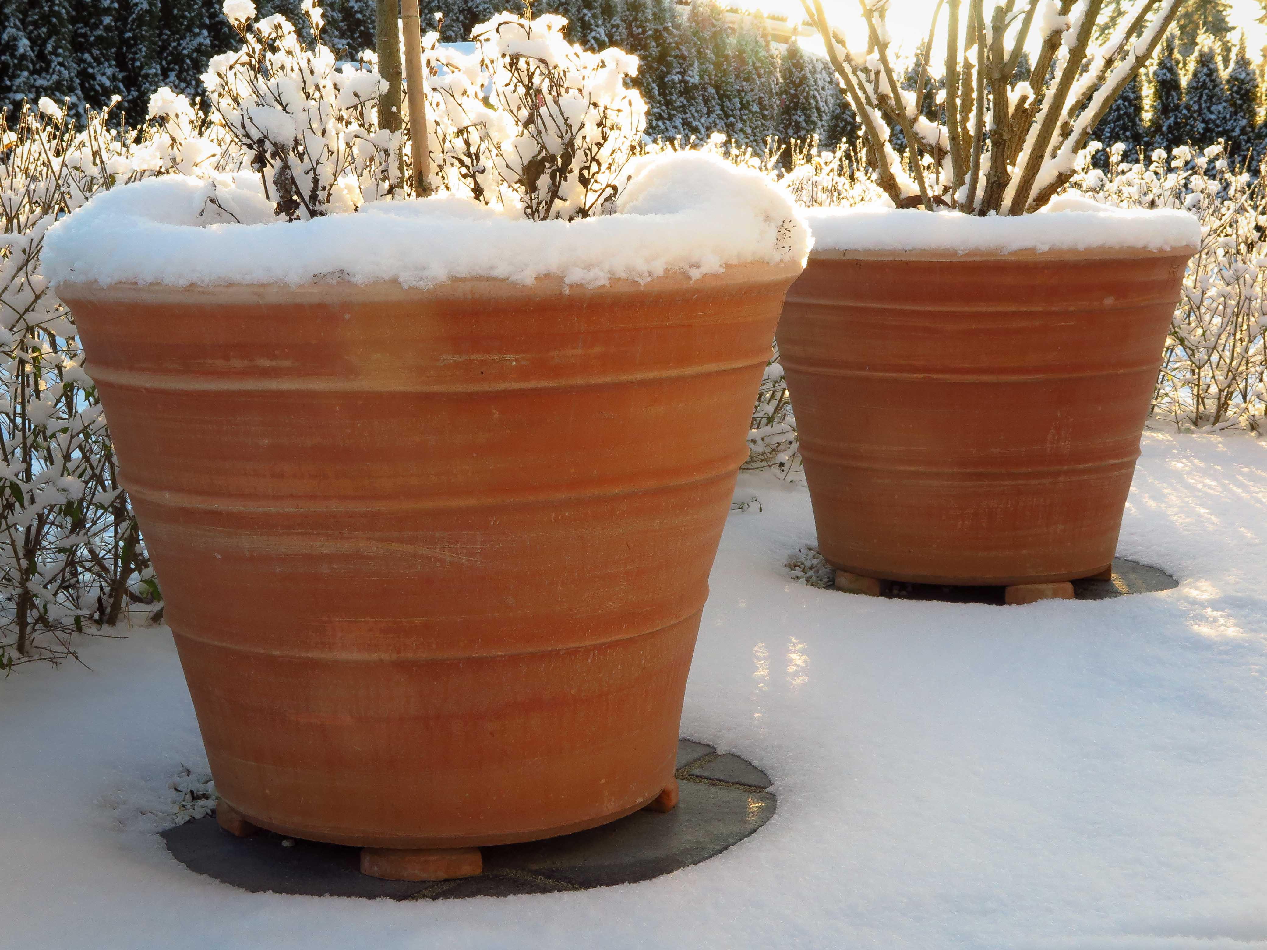 Vintertåliga krukor. Frosttåliga krukor. Krukor Ernst. med Ernst krukor. Stora krukor. Terrakottakrukor.