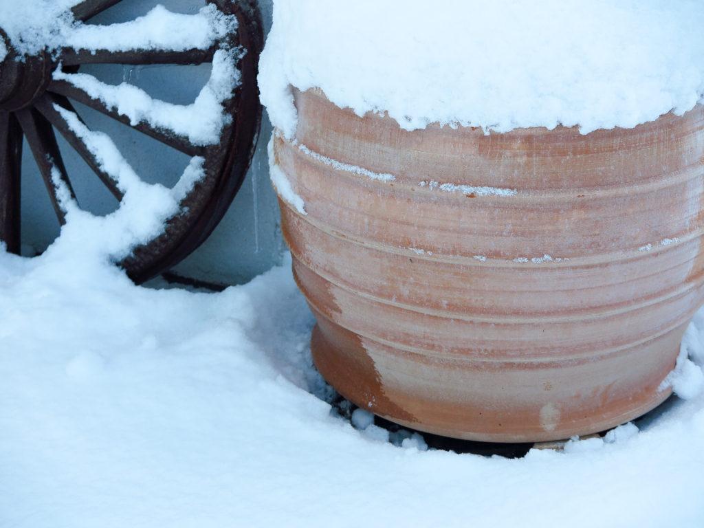 Vattentunna på vintern