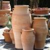 Urna av hårdbränd keramik, köldtålig terrakotta